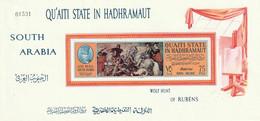 """ARABIE SAOUDITE (QU'AITI STATE IN HADHRAMAUT) - Art, """"Wolf Hunt"""" Rubens, Poste Aérienne - MNH - Saoedi-Arabië"""
