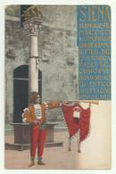 SIENA - IL 16 AGOSTO 1901 LE CONTRADE CORRERANNO.... ILLUSTRATA  - NV FP - Siena