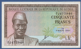 GUINEA - P.12 – 50 Francs 01.03.1960 UNC- Serie FJ472946 - Guinea