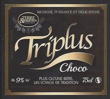 Etiquette De Bière Choco   -  Triplus  -  Brasserie Terre Et Tradition à Querenaing   (59) - Beer