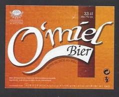 Etiquette De Bière Au Miel  -  O'miel  -  Brasserie Terre Et Tradition à Querenaing   (59) - Beer