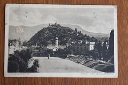 C983 Graz Kunstlerkarte Mur Schlossberg - Graz