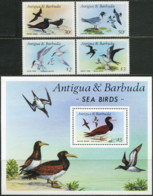ANTIGUA AND BARBUDA 1987 Sea Birds Seabirds Gulls Terns Animals Fauna MNH - Möwen