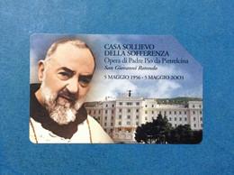 CARTA SCHEDA TELEFONICA PHONE CARD USATA € 3,00 PADRE PIO CASA SOLLIEVO DELLA SOFFERENZA SAN GIOVANNI ROTONDO - Unclassified