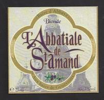 Etiquette De Bière Au Baies De Genévriers  -  Abbatiale  -  Brasserie Des Sources à Saint Amand Les Eaux   (59) - Beer
