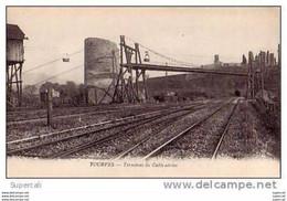 N°583 VAR TOURVES (près De Brignoles) TERMINUS DU CABLE AERIEN.CHATEAU D'EAU SUR LIGNE DE CHEMIN-DE- FER. - Brignoles