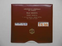 Disque De Contrôle De Stationnement Publicité AGF Assurances Générale De France VITTEL 88800 VOSGES - Sin Clasificación