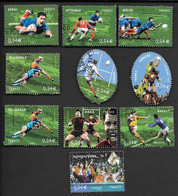 TIMBRES  FRANCE. OBLITERATION RONDE  SERIE  RUGBY N°4063/4072.  TBE - Gebraucht