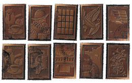 TIMBRES  FRANCE. OBLITERATION   RONDE.... SERIE LE CHOCOLAT..N°4357/4366..TBE SCAN - Gebraucht