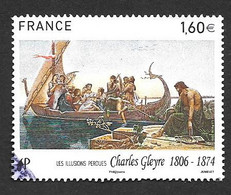 TIMBRES  FRANCE. OBLITERATION  RONDE..2016. CHARLES GLEYRE  N° 5069.   TBE SCAN - Gebruikt
