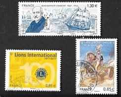 TIMBRES  FRANCE. OBLITERATION  RONDE..2017.  N°5140/5152/5157.  TBE  SCAN - Gebraucht