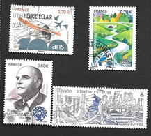 TIMBRES  FRANCE. OBLITERATION  RONDE..2016...N°5085/5089/5104/5105.  TBE SCAN - Gebraucht