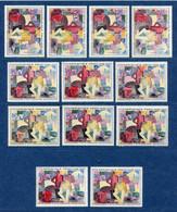 ⭐ France - Variété - YT N° 1322 - Couleurs - Pétouilles - Neuf Sans Charnière - 1961 ⭐ - Varieties: 1960-69 Mint/hinged