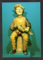 Céramique Du Beauvaisis(60 Oise)Poterie Vernissée Polychrome épi De Faîtage Représentant Un Jour De Vielle(Ed Du Lys N°3 - Other Municipalities