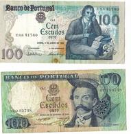Portugal 2 Biljetten Van 20 Escudos 1 Uit 1965 En 1 Uit 1985 Gebruikt (3224) - Portugal