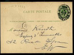 Carte N° 13. B. ZIJDE (long) Obl. BRUXELLES - 5 -  07/06/1884 - Postcards [1871-09]
