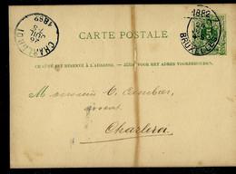Carte N° 13. A. ZIJDE (court) Obl. BRUXELLES   26/07/1882 - Postcards [1871-09]