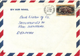 Israel Air Mail Cover Sent To Denmark 28-5-1986 Single Franked - Airmail