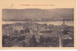26 - VALENCE  - PANORAMA LE NOUVEAU PONT ET CRUSSOL - Valence