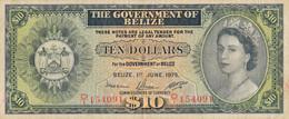 K28 - BELIZE - Billet De 10 DOLLARS - Année 1975 - Belice