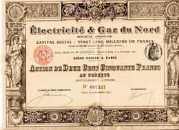 ELECTRICITÉ & GAZ Du NORD (Impr. Richard) - Elettricità & Gas