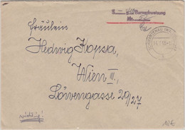 Österreich - Schwarzenau (Waldviertel) 14.1.48 Barnachweisung L2 Brief N. Wien - Zonder Classificatie