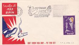 DON'T THROW THEM AWAY PUT THEM OUT, CIGARETTE TABAC TOBACCO. ISRAEL SPC 21.7.1957 TIBERIAS.- LILHU - Otros