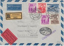 Österreich - 2,40 S Ganzsache Aerogramme Einschreiben Eilboten N. ÄGYPTEN 1960 - Stamped Stationery