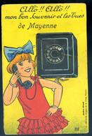 Cpa Du 53 Mayenne Carte à Système Téléphone Poste Allo Allo Mon Bon Souvenir Avec Ses 10 Petites Cartes   SPT21-06 - Altri Comuni