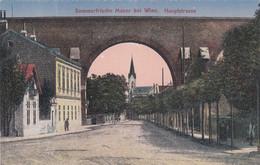 9735) Sommerfrische MAUER Bei WIEN - HAUPTSTRASSE - Haus Und Kirche Details ALT ! - Altri