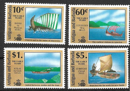 ANTIGUA & BARBUDA 1991  DISCOVERY OF AMERICA, Ships - Antigua En Barbuda (1981-...)