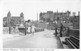 21-8733 : SAINT-AIGNAN. LE PONT REPARE PAR LES ALLEMANDS. SECONDE GUERRE MONDIALE. - Saint Aignan