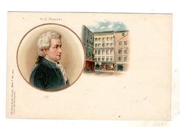 Wolfgang Amadeus Mozart, Composer  1905? Used Intermediate-size Postcard - Musica E Musicisti Wolfgang Amadeus Mozart - Music And Musicians