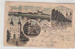 9743) GRUSS Aus MARIA LANZENDORF - Kirchplatz Calvarienberg Kirche Usw. LITHO 18.07.1904 ! - Autres