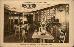 BATEAUX - Messageries Maritimes - Paquebot Général Metzinger - Fumoir - Paquebots