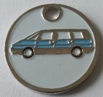 Jeton De Caddie - Automobiles - RENAULT  ESPACE Bleue - En Métal - Neuf - - Einkaufswagen-Chips (EKW)