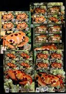 Aitutaki 2014 WWF Crabs 5 Perf. Sheets MNH M.380 - Aitutaki