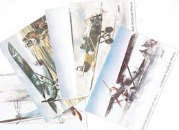 CPM TCHECOSLOVAQUIE THEMES TRANSPORTS AERONAUTIQUE - Pochette De 12 Cartes Avec Livret Explicatif - 1919-1938: Interbellum