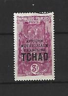 Timbre De Colonie Française Tchad Oblitéré N 55 - Usati