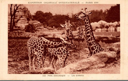 75 PARIS 1931 EXPOSITION COLONIALE INTERNATIONALE PARC ZOOLOGIQUE LES GIRAFES - Exposiciones