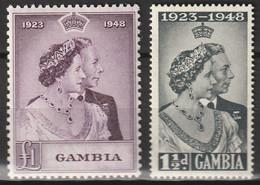 Gran Bretagna Vecchie Colonie -Gambia 1948 Il 25° Anniversario Del Matrimonio Di Re Giorgio VI E Della Regina Elisabetta - Gambia (...-1964)