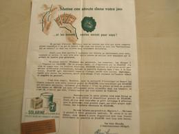 Ancien Document SOLARINE  SOCIETE BELGE DES PRODUITS DU GENIE PERUWELZ - Perfumería & Droguería
