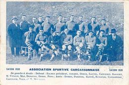 CARCASSONNE - SAISON 1930 - ASSOCIATION SPORTIVE CARCASSONNAISE (SPORT) - Carcassonne