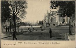 75 - PARIS - Exposition De 1900 - Entrée Principale Et Grand Palais - Cantonniers - Veloutine Ch.Fay - Exposiciones