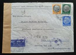 Deutsches Reich 1940, FLUGPOST Brief MiF München Nach CALI Kolumbien - ZENSUR - Covers & Documents