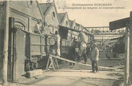 LOOS LEZ LILLE-établissements Kuhlmann-chargement Des Wagons De Superphosphate - Loos Les Lille
