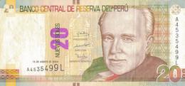 K29 - PÉROU - Billet De 20 NUEVOS SOLES - Année 2009 - Peru