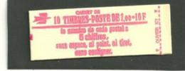 Carnet Sabine De Gandon Couverture Code Postal Maury 406 I Yvert 1972-c2 - Definitives