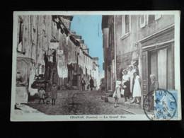 48 - Lozère - Chanac - La Grand Rue - Belle Animation  à Gauche Garage Peugeot édit.coll. Vidal - Chanac