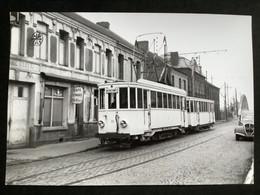 Photographie Originale De J.BAZIN:Chemins De Fer Économiques Du NORD .Reseau De VALENCIENNES : Gare De LOURCHES En 1954 - Trenes